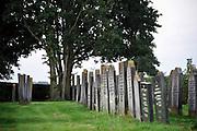 Nederland, Nijkerk, 20-8-2012De joodse begraafplaats. Nijkerk kende een grote joodse gemeenschap voor de oorlog. Velen zijn gedeporteerd. De gemeente wil hen gedenken met Stolpersteine, die in de straat komen waar een joods gezin woonde.Foto: Flip Franssen
