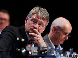 30.04.2016, Messe, Stuttgart, GER, 5. Bundesparteitag der AfD, im Bild Prof. Dr. Joerg Meuthen, Vorsitzender der AFD, daneben Albrecht Glaser // during the 5th party convention of the Alternative for Germany (AfD) at the Messe in Stuttgart, Germany on 2016/04/30. EXPA Pictures © 2016, PhotoCredit: EXPA/ Sammy Minkoff<br /> <br /> *****ATTENTION - OUT of GER*****