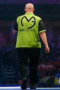 Michael van Gerwen walks on the stage during the World Darts Championships 2018 at Alexandra Palace, London, United Kingdom on 29 December 2018.