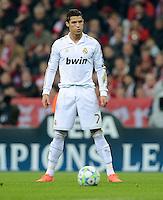 FUSSBALL   CHAMPIONS LEAGUE  HALBFFINAL HINSPIEL   2011/2012      FC Bayern Muenchen - Real Madrid          17.04.2012 Cristiano Ronaldo (Real Madrid)