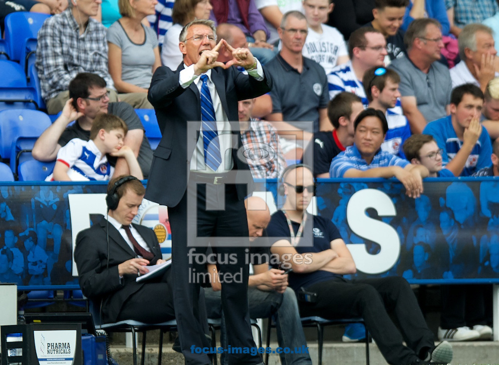 Manager Nigel Adkins of Reading during the Sky Bet Championship match at the Madejski Stadium, Reading<br /> Picture by Alan Stanford/Focus Images Ltd +44 7915 056117<br /> 28/09/2014