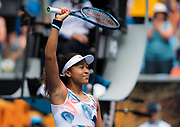 Naomi Osaka of Japan celebrates during her second round match at the 2020 Australian Open, WTA Grand Slam tennis tournament on January 22, 2020 at Melbourne Park in Melbourne, Australia - Photo Rob Prange / Spain ProSportsImages / DPPI / ProSportsImages / DPPI