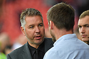 Doncaster Rovers manager Darren Ferguson shakes hands with Sunthorpe United manager Graham Alexander  during the EFL Sky Bet League 1 match between Doncaster Rovers and Scunthorpe United at the Keepmoat Stadium, Doncaster, England on 17 September 2017. Photo by Ian Lyall.