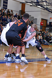 6 January 2017: IHSA Boys Basketball game between the Fisher Bunnies at the Ridgeview Mustangs at Colfax Illinois
