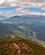 Stubai valley Landscape. Photographed at the Schlick 2000 ski centre, Stubai, Tyrol, Austria in September