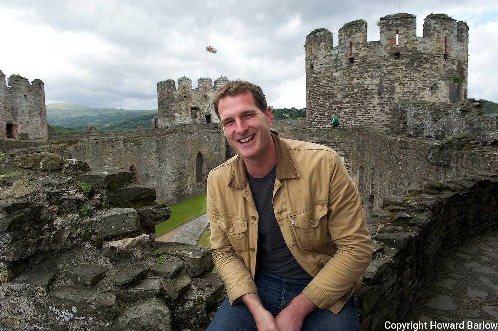 Dan Snow at Conwy Castle, Wales<br /> June 2011