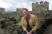 Dan Snow at Conwy Castle, Wales<br />