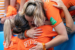 07-07-2019 FRA: Final USA - Netherlands, Lyon<br /> FIFA Women's World Cup France final match between United States of America and Netherlands at Parc Olympique Lyonnais. USA won 2-0 / Jackie Groenen #14 of the Netherlands, Sherida Spitse #8 of the Netherlands