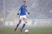 Mark Kitching snow  during the EFL Sky Bet League 1 match between Rochdale and AFC Wimbledon at Spotland, Rochdale, England on 17 March 2018. Picture by Daniel Youngs.