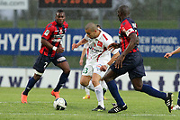 FOOTBALL - FRENCH CHAMPIONSHIP 2011/2012 - CLERMONT FOOT v CS SEDAN  - 4/05/2015 - PHOTO EDDY LEMAISTRE / DPPI - NAIM SLITI  (SEDAN) AND EUGENE EKOBO  (CFA)