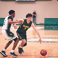 1st year forward, Matt Barnard (7) of the Regina Cougars during the Men's Basketball Home Game on Sat Feb 02 at Centre for Kinesiology,Health and Sport. Credit: Arthur Ward/Arthur Images