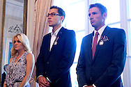 (L) Agnieszka Radwanska and (C) Jerzy Janowicz and (R) Lukasz Kubot during meeting in Belvedere Palace in Warsaw, Poland.<br /> <br /> Poland, Warsaw, July 08, 2013<br /> <br /> Picture also available in RAW (NEF) or TIFF format on special request.<br /> <br /> For editorial use only. Any commercial or promotional use requires permission.<br /> <br /> Photo by © Adam Nurkiewicz / Mediasport