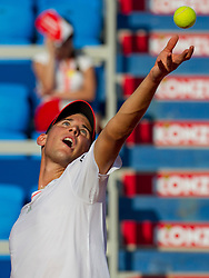 Dominic Thiem (AUT) during a tennis match against the Dusan Lajovic (SRB) in second round of singles at 26. Konzum Croatia Open Umag 2015, on July 23, 2015, in Umag, Croatia. Photo by Urban Urbanc / Sportida