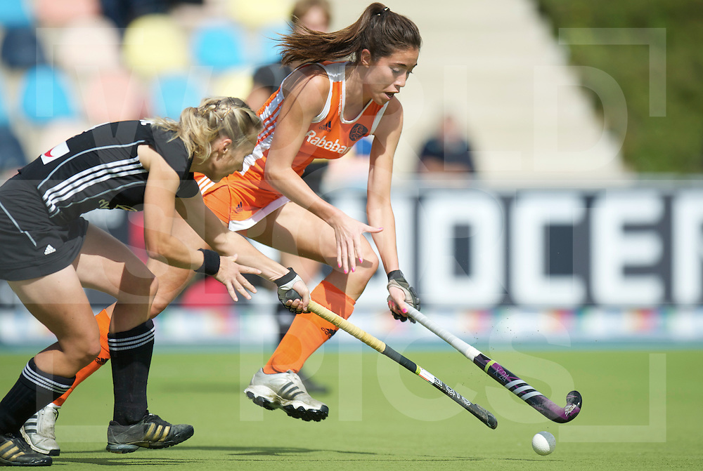 MONCHENGLADBACH - EuroHockey Championship men .Womens Final Netherlands vs Germany.foto: Naomi van As (orange) and Mandy Haase (black)..FFU Press Agency  COPYRIGHT FRANK UIJLENBROEK