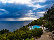 The villa we rented near Cagliari enjoyed a spectacular setting —