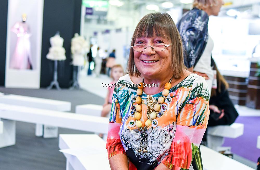 London, UK. 3rd September, 2018. Hilary Alexander, Fashion journalist attend the International Jewellery London 2018, Olympia London, UK.