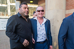 © Licensed to London News Pictures. 08/01/2019. Middlesbrough, UK. Former England footballer Paul Gascoigne at Teesside Crown Court this morning. The 51 year old is charged with sexually assaulting a woman by kissing on a train. Gascoigne was arrested while travelling from York to Newcastle on August 20th & was later charged with sexual assault by touching. Photo credit: Andrew McCaren/LNP