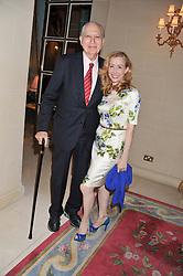 AMBASSADOR JOHN LOEB and SHARON HANDLER at Ambassador Earle Mack's 60's reunion party held at The Ritz Hotel, London on 18th June 2012.