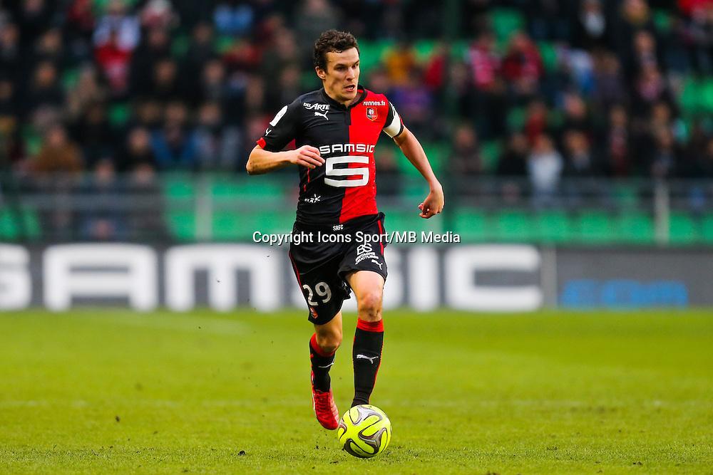 Romain DANZE  - 25.01.2015 - Rennes / Caen  - 22eme journee de Ligue1<br /> Photo : Vincent Michel / Icon Sport *** Local Caption ***