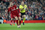 Liverpool midfielder and captain Jordan Henderson (14) during the Champions League Quarter-Final Leg 1 of 2 match between Liverpool and FC Porto at Anfield, Liverpool, England on 9 April 2019.