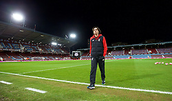 LONDON, ENGLAND - Tuesday, February 9, 2016: Liverpool's assistant manager Zeljko Buvac walks out to inspect the pitch before the FA Cup 4th Round Replay match against West Ham United at Upton Park. (Pic by David Rawcliffe/Propaganda)
