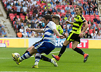 Football - 2016 / 2017 Championship Playoff Final: Reading vs. Huddersfield<br /> <br /> Tyler Blackett of Reading tries his luck at the Huddersfield goal at Wembley Stadium.<br /> <br /> COLORSPORT/DANIEL BEARHAM
