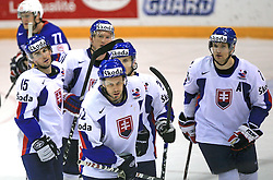 Team Slovakia celebrates a goal (Dominik Granak of Slovakia - 15, Andrej Kollar of Slovakia - 72...) at ice-hockey game Slovenia vs Slovakia at Relegation  Round (group G) of IIHF WC 2008 in Halifax, on May 09, 2008 in Metro Center, Halifax, Nova Scotia, Canada. Slovakia won 5:1. (Photo by Vid Ponikvar / Sportal Images)