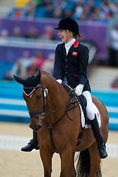 Sophie Christiansen (GBR) - Janeiro 6<br /> Individual Championship Test - Grade Ia<br /> London 2012 Paralympic Games<br /> © Hippo Foto - Jon Stroud