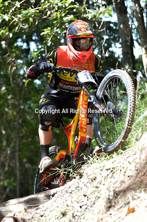 22.04.2016. Cairns,Australia. UCI Mountain Bike World Cup. Downhill qualifying. Mark Wallace from Canada riding for DEVINCI GLOBAL RACING.