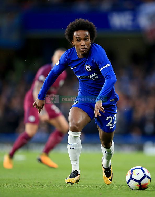 30 September 2017 -  Premier League - Chelsea v Manchester City - Willian of Chelsea - Photo: Marc Atkins/Offside