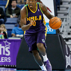 February 10, 2012; New Orleans, LA, USA; New Orleans Hornets small forward Al-Farouq Aminu (0) against the Portland Trail Blazers during the a game at the New Orleans Arena. The Trail Blazers defeated the Hornets 94-86. Mandatory Credit: Derick E. Hingle-US PRESSWIRE