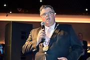 Nederland, Nijmegen, 2-6-2014Burgemeester Hubert Bruls opent de vernieuwde Holland Casino vestiging aan de Waalkade in Nijmegen. Hij brent bij roulette het balletje in het spel.Foto: Flip Franssen/Hollandse Hoogte