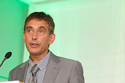 Repro Free: 29/05/2013 Professor Peter Anderson pictured speaking on Alcohol and Cancer at the 2013 Official Conference for the Week Against Cancer, ?Towards a Future without Cancer? hosted by the Irish Cancer Society in partnership with the Association of European Cancer Leagues at the Aviva Stadium Dublin. The two day conference brings together the best international evidence and public policies that can reduce the risk of cancer. Picture Andres Poveda