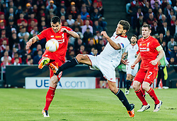 18.05.2016, St. Jakob Park, Basel, SUI, UEFA EL, FC Liverpool vs Sevilla FC, Finale, im Bild Dejan Lovren (FC Liverpool), Daniel Carrico (FC Sevilla) // Dejan Lovren (FC Liverpool) Daniel Carrico (FC Sevilla) during the Final Match of the UEFA Europaleague between FC Liverpool and Sevilla FC at the St. Jakob Park in Basel, Switzerland on 2016/05/18. EXPA Pictures © 2016, PhotoCredit: EXPA/ JFK