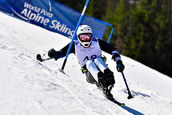 KANO Akira, LW11, JPN, Slalom at the WPAS_2019 Alpine Skiing World Cup Finals, Morzine, France