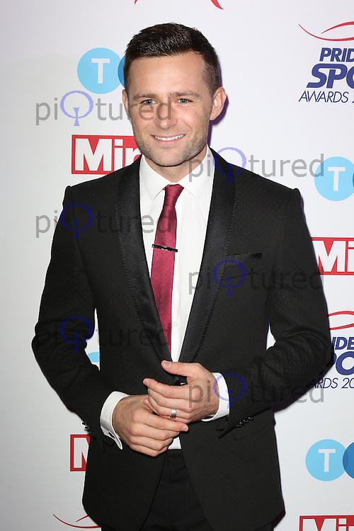 Harry Judd, Pride of Sport Awards, Grosvenor House Hotel, London UK, 07 December 2016, Photo by Richard Goldschmidt