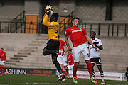 Coventry City goalkeeper Reice Charles-Cook collects the ball during the Sky Bet League 1 match between Port Vale and Coventry City at Vale Park, Burslem, England on 7 February 2016. Photo by Simon Davies.