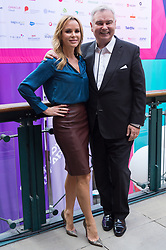 © Licensed to London News Pictures. 11/10/2018. London, UK. Amanda Holden and Eammon Holmes in conversation at the Festival of Marketing held at Tobacco Dock. Photo credit: Ray Tang/LNP