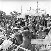 Theatre crowd, at Glastonbury, 1989.