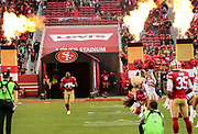 Nov 26, 2017; Santa Clara, CA, USA; San Francisco 49ers San Francisco 49ers running back Carlos Hyde (28) takes the field prior to game against the Seattle Seahawks at Levi's Stadium.