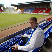 16.05.02...New St Johnstone signing Ian Maxwell who has joined on a two year deal from Ross County<br /><br /><br />Pic by Graeme Hart<br />Copyright Perthshire Picture Agency<br />Tel: 01738 623350 / 07990 594431