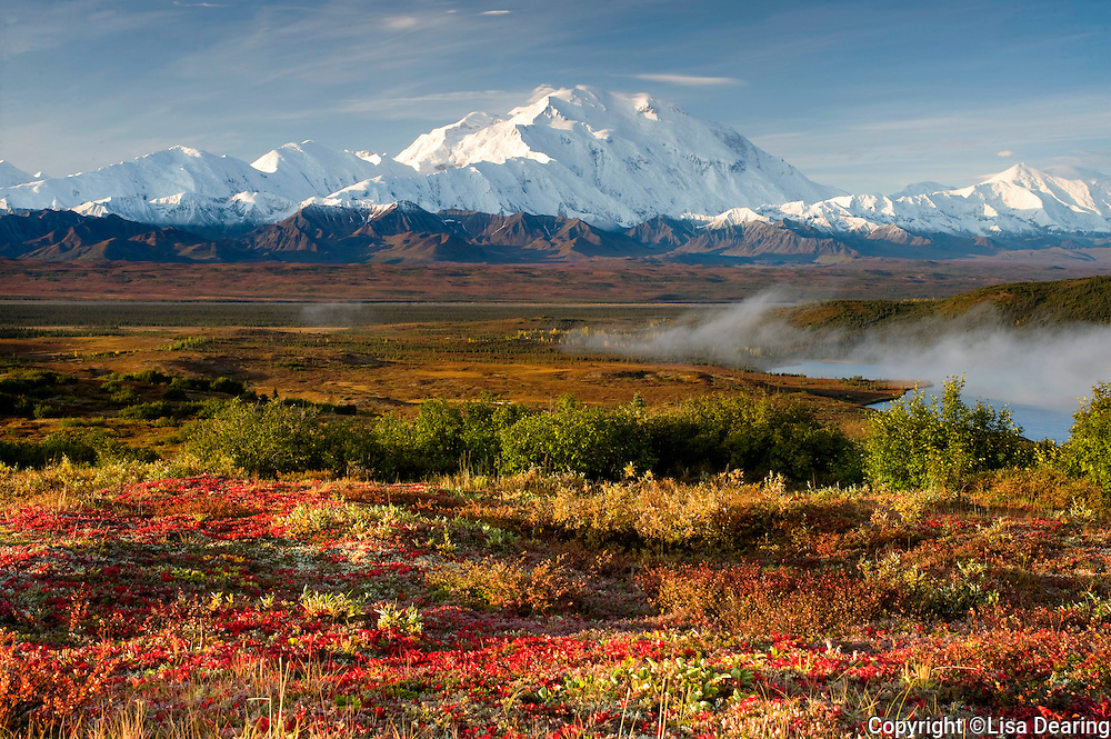 Wonder Lake and Mount Mckinley in Autumn, Denali National Park, Alaska