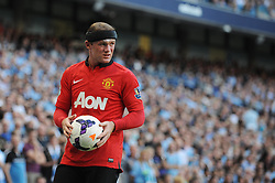 Manchester United's Wayne Rooney - Photo mandatory by-line: Dougie Allward/JMP - Tel: Mobile: 07966 386802 22/09/2013 - SPORT - FOOTBALL - City of Manchester Stadium - Manchester - Manchester City V Manchester United - Barclays Premier League