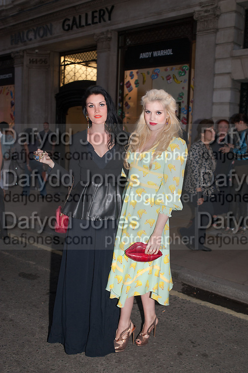 KOKO FENNELL; EMERALD FENNELL, Vogue's Fashion night out special opening of the Halcyon Gallery.  New Bond St. London. 6 December 2012.