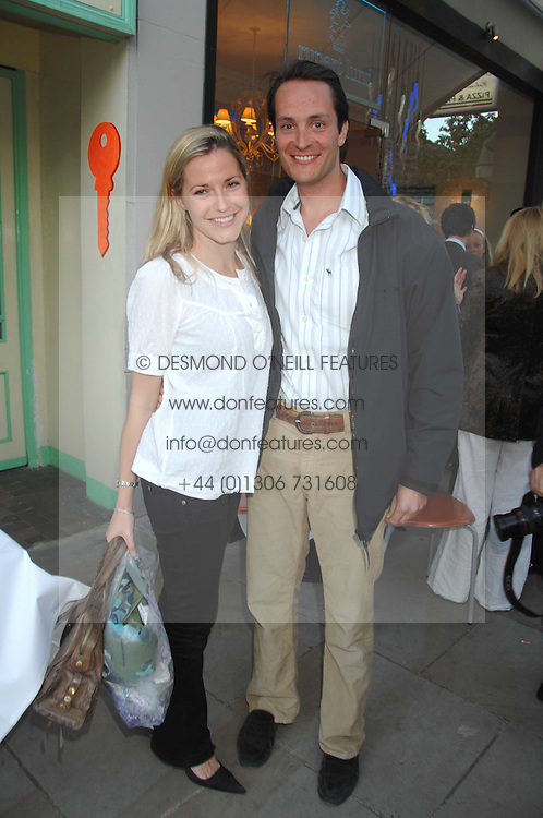 The HON.EDWARD & MRS TOLLEMACHE at the launch of The Rupert Lund Showroom, 61 Chelsea Manor Street, London SW3 on 2nd May 2007.<br />