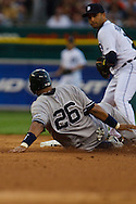 April 27, 2009:    #26 Jose Molina of the NY Yankees gin action during the MLB game between New York Yankees and Detroit Tigers at Comerica Park, Detroit, Michigan. (Credit Image: Rick Osentoski/Cal Sport Media)