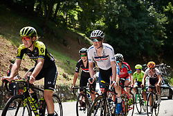 Ann-Sophie Duyck (BEL) on the first climb at Giro Rosa 2018 - Stage 8, a 126.2 km road race from San Giorgio di Perlena to Breganze, Italy on July 13, 2018. Photo by Sean Robinson/velofocus.com