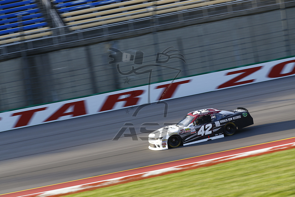 September 23, 2017 - Sparta, Kentucky, USA: Tyler Reddick (42) brings his car down the back stretch during practice for the VisitMyrtleBeach.com 300 at Kentucky Speedway in Sparta, Kentucky.