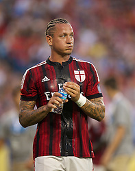 CHARLOTTE, USA - Saturday, August 2, 2014: AC Milan's Philippe Mexes during the International Champions Cup Group B match at the Bank of America Stadium on day thirteen of the club's USA Tour. (Pic by David Rawcliffe/Propaganda)