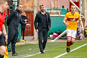 Motherwell Manager Stephen Robinson during the Ladbrokes Scottish Premiership match between Motherwell and Heart of Midlothian at Fir Park, Motherwell, Scotland on 17 February 2019.